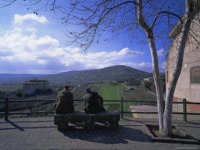 Two Men on a Bench, Barbagia, Sardinia, Italy, Europe-Oliviero Olivieri-Photographic Print