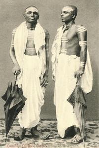Two Men with Umbrellas, Colombo, Sri Lanka