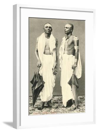Two Men with Umbrellas, Colombo, Sri Lanka--Framed Art Print
