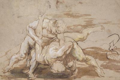Two Men Wrestling-Peter Paul Rubens-Giclee Print