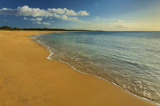Two Mile Long Papohaku Beach, on the West End of Molokai Island-Richard Cooke-Photographic Print