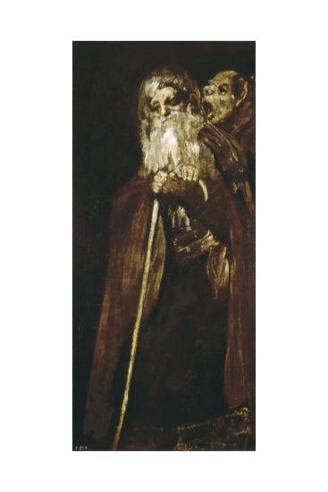 Two Monks-Francisco de Goya-Art Print