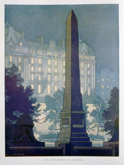 Two Monuments of London, Advert for the Hotel Cecil, 1925-W Welsh-Giclee Print
