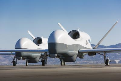 Two Mq-4C Triton Unmanned Aerial Vehicles on the Tarmac--Photographic Print