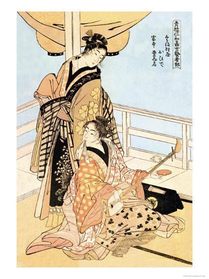 Two Musicians-Kitagawa Utamaro-Art Print