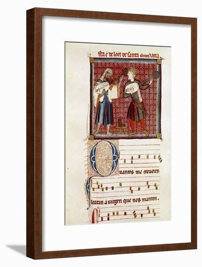 Two musicians-Catalan School-Framed Giclee Print