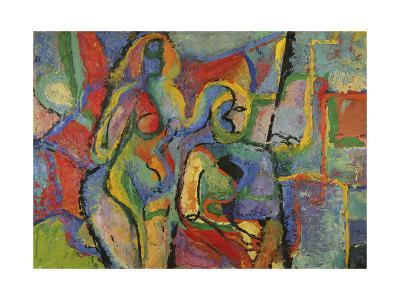Two Nudes, 1960-Nina Ivanovna Shirokova-Giclee Print