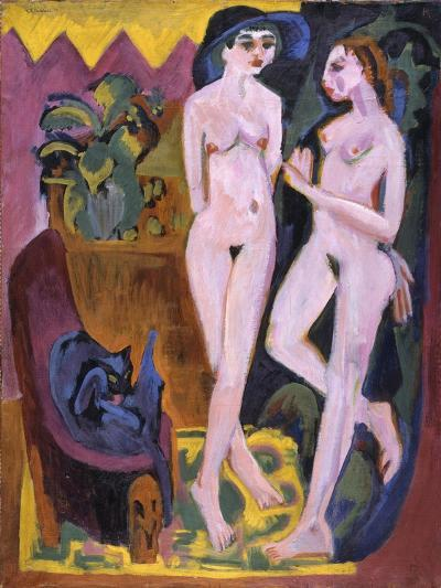 Two Nudes in a Room, 1914-Ernst Ludwig Kirchner-Giclee Print