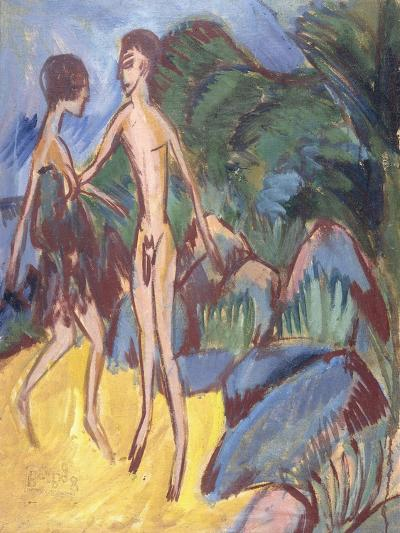 Two Nudes in the Room-Ernst Ludwig Kirchner-Giclee Print