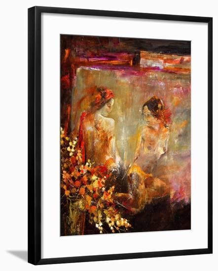 Two nudes-Pol Ledent-Framed Art Print