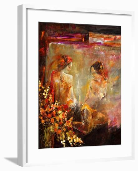 Two nudes-Pol Ledent-Framed Art Print