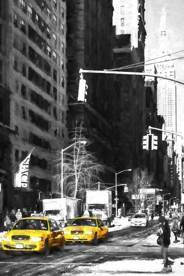 Two NYC Taxis-Philippe Hugonnard-Giclee Print