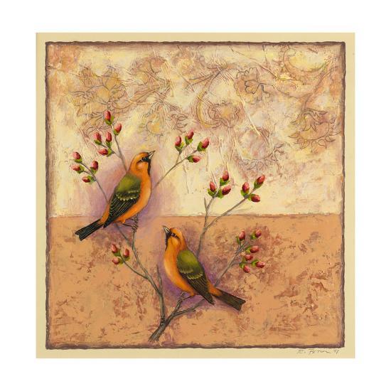 Two Orange Birds-Rachel Paxton-Giclee Print
