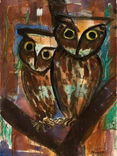 Two Owls-Anneliese Everts-Giclee Print