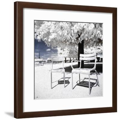 Two Parisian Chairs II - In the Style of Oil Painting-Philippe Hugonnard-Framed Giclee Print