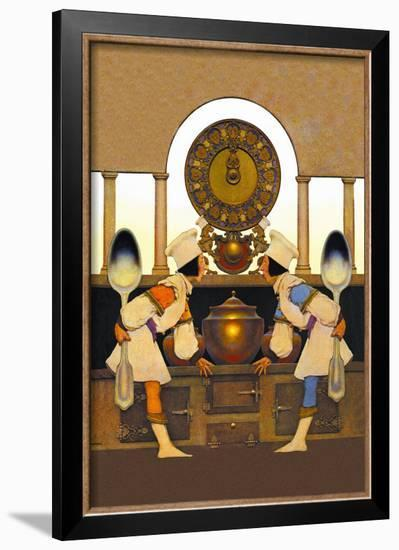 Two Pastry Cooks-Maxfield Parrish-Framed Art Print