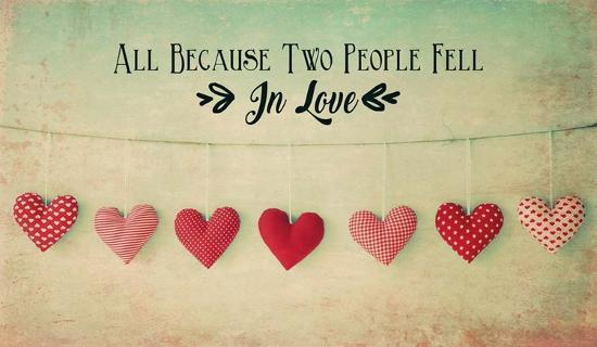 Two People Fell in Love Cotton Hearts-Quote Master-Art Print