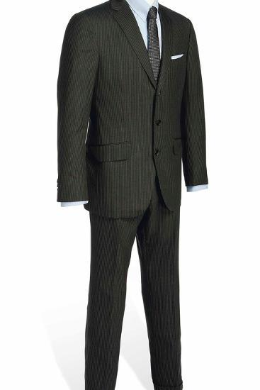 Two-Piece Serge Suit with Light Blue Rope-Stripe, Worn by Daniel Craig in the Film 'Skyfall', 2012--Photographic Print