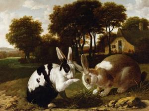 Two Rabbits in a Landscape, C.1650