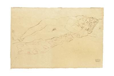 Two Reclining Nudes, c.1913-Gustav Klimt-Giclee Print
