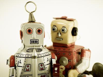 Two Robots in Love-davinci-Art Print