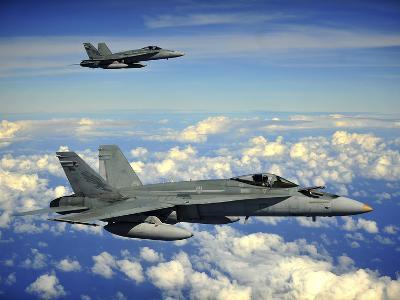 Two Royal Australian Air Force F/A-18 Hornets-Stocktrek Images-Photographic Print