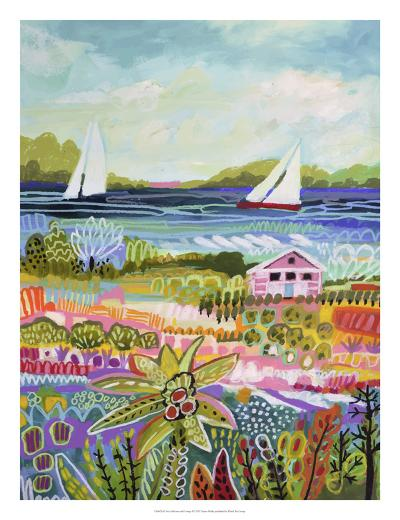Two Sailboats and Cottage I-Karen  Fields-Art Print