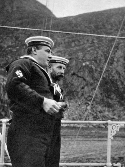 Two Sailors on the Royal Yacht Off the Coast of Norway, 1904--Giclee Print