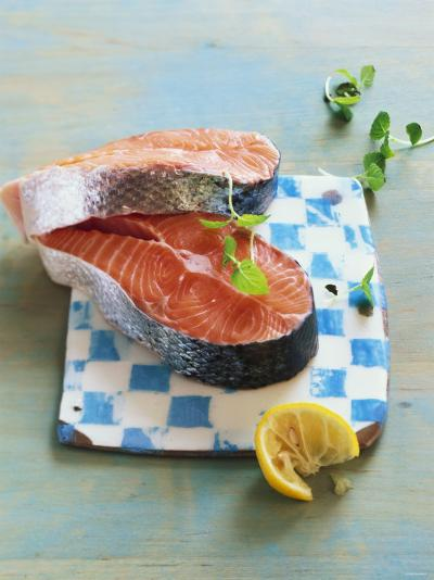 Two Salmon Cutlets-Matthias Hoffmann-Photographic Print