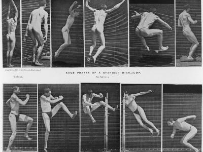 Two Sequences of an Athlete High-Jumping--Photographic Print