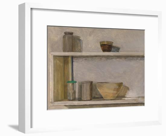 Two Shelves and Bowls-William Packer-Framed Giclee Print
