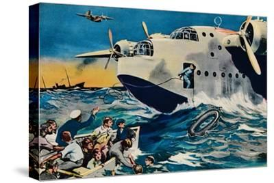 Two Short Sunderlands Rescuing Crew, 1940