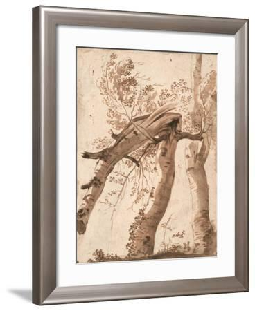 Two Silver Birches, the Front One Fallen, C. 1629-Nicolas Poussin-Framed Giclee Print