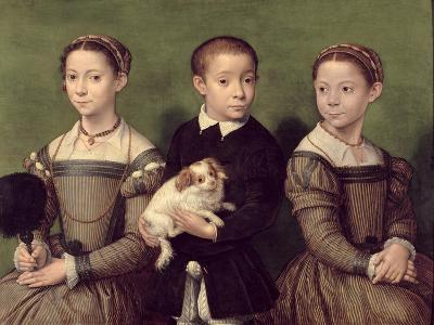 Two Sisters and a Brother of the Artist-Sofonisba Anguissola-Giclee Print