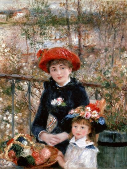 Two Sisters (On the Terrac), 1881-Pierre-Auguste Renoir-Premium Giclee Print
