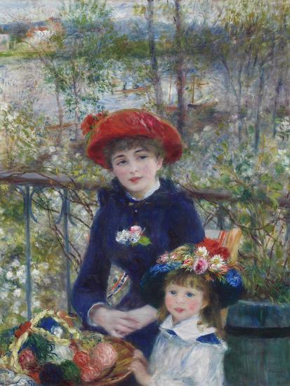 Two Sisters (On the Terrace), 1881-Pierre-Auguste Renoir-Premium Giclee Print