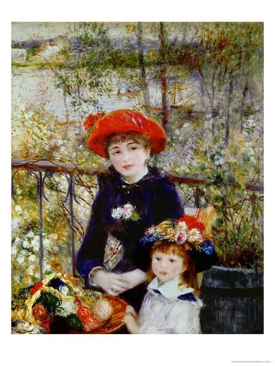 Two Sisters, or on the Terrace, 1881-Pierre-Auguste Renoir-Giclee Print