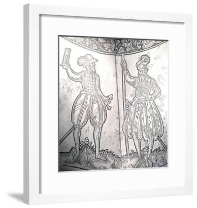Two Soldiers on Corselet, 1550-1560, Made in Augsburg, Germany, 16th Century--Framed Giclee Print