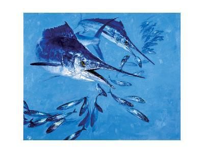 Two Spearfish and Mackerel-Stanley Meltzoff-Giclee Print
