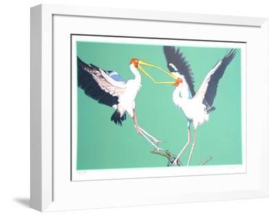 Two Storks-Fran Bull-Framed Limited Edition