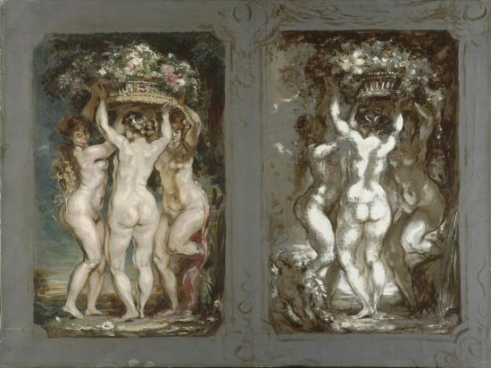 Two Studies for 'The Three Graces'-Louis Anquetin-Giclee Print
