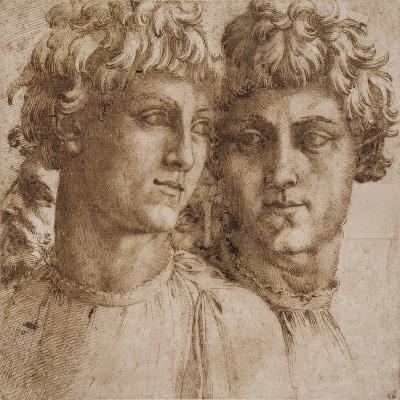 Two Studies of the Head of a Youth, C.1550-Baccio Bandinelli-Giclee Print