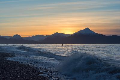 Two Surfers on Kachemak Bay Alaska-Latitude 59 LLP-Photographic Print