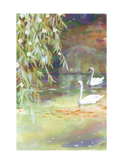 Two Swans--Art Print