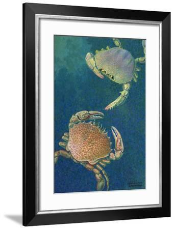 Two Swimming Crabs-William H. Crowder-Framed Giclee Print