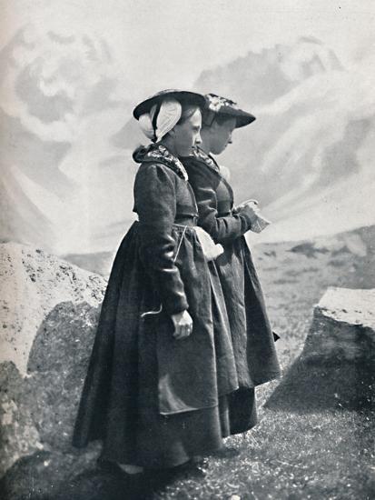 Two Swiss women, 1912-Charles Lefebure-Photographic Print