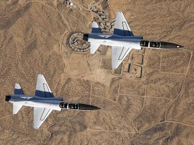 Two T-38A Mission Support Aircraft Fly in Tight Formation-Stocktrek Images-Photographic Print