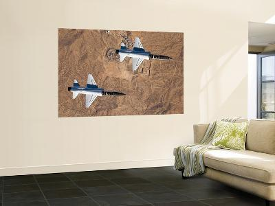 Two T-38A Mission Support Aircraft Fly in Tight Formation-Stocktrek Images-Giant Art Print