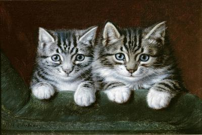 Two Tabby Kittens-Horatio Henry Couldery-Giclee Print