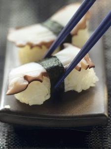 Two Tako Nigiri Sushi